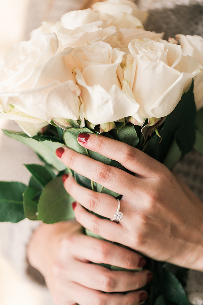 Our fave engagement rings + the manis to wear with them