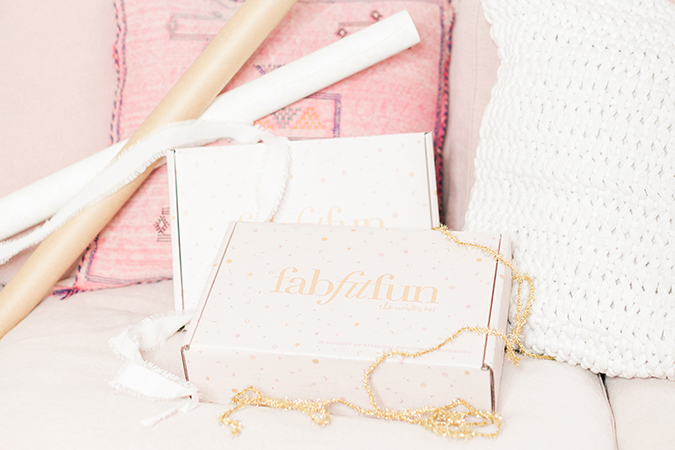 FabFitFun's winter box on LC.com