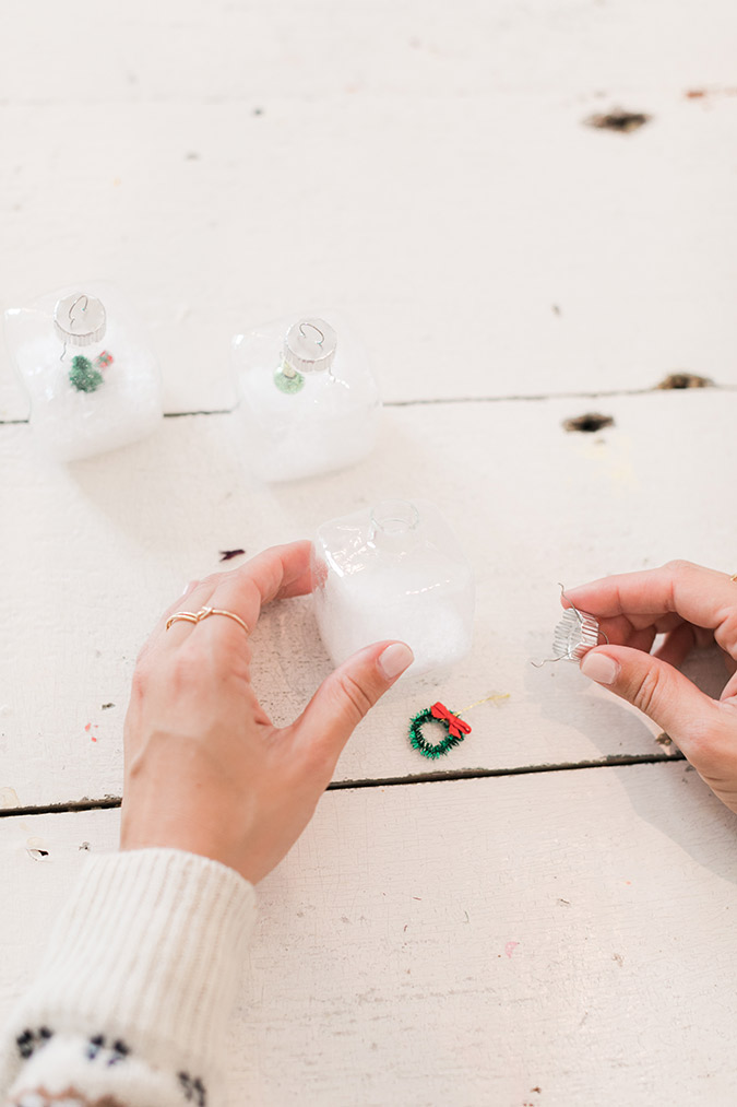 How to make the sweetest snow globe ornaments for Christmas