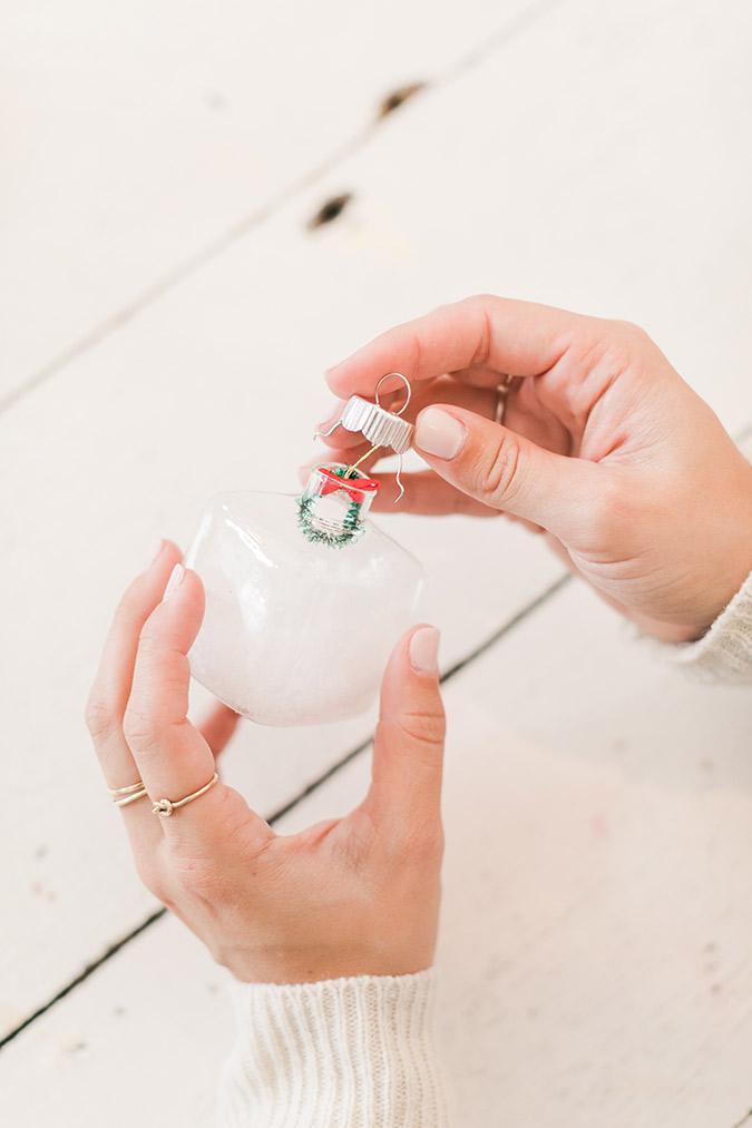 Lauren Conrad's tiny snow globe ornaments