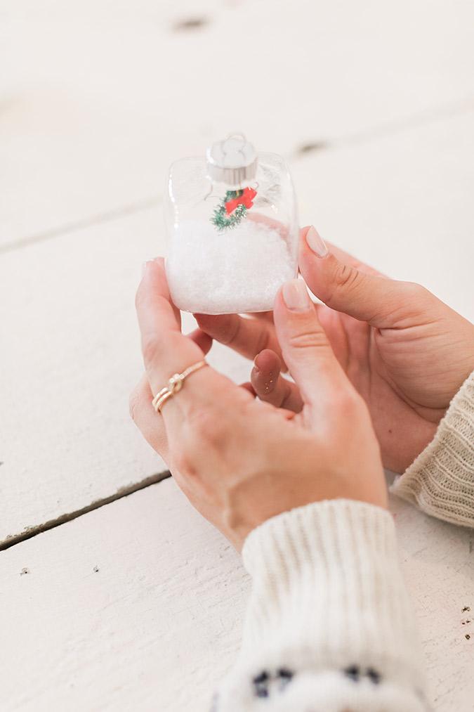 How to make Lauren's teeny tiny snow globe ornaments