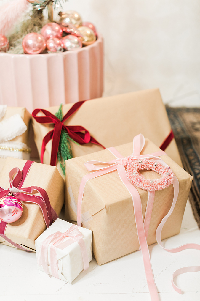 pretty wrapped presents, and our FabFitFun winter box