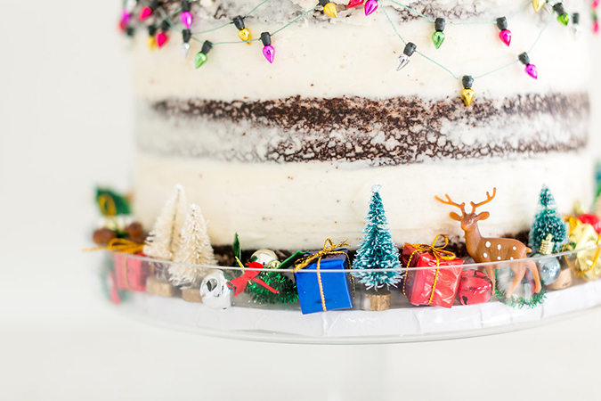 Holiday cakes with the cutest and most festive details