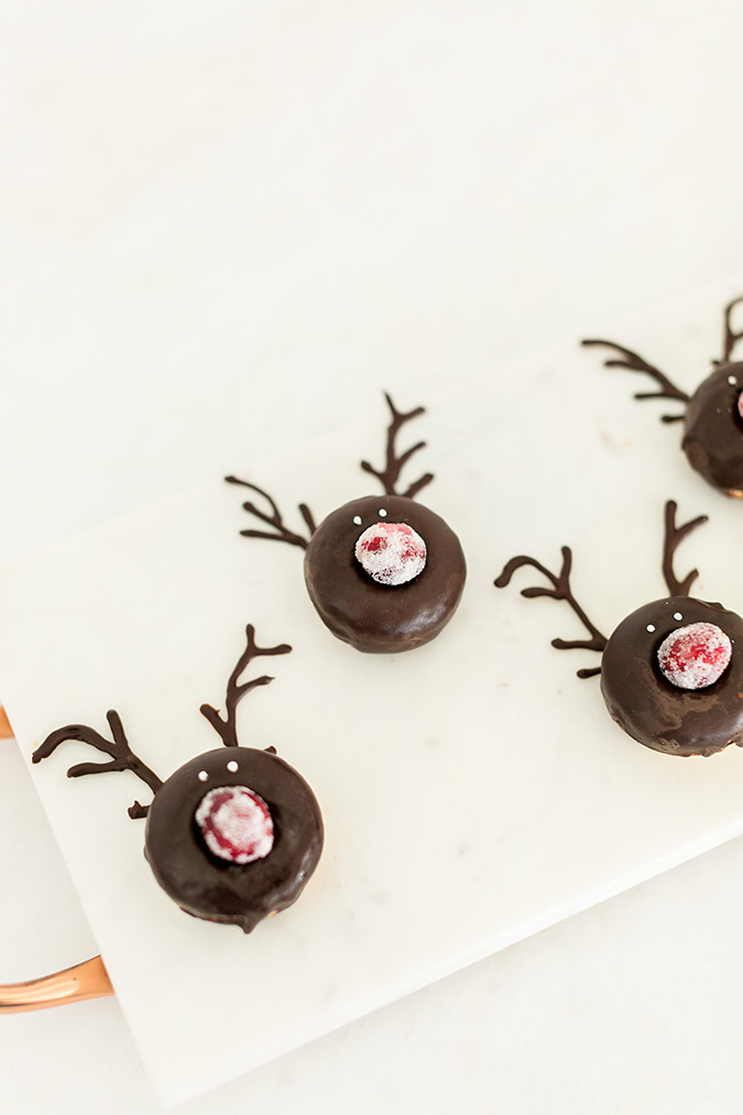The sweetest Rudolph donuts recipe