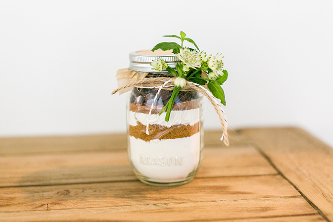 DIY mason jar gift - cookies in a jar by LaurenConrad.com