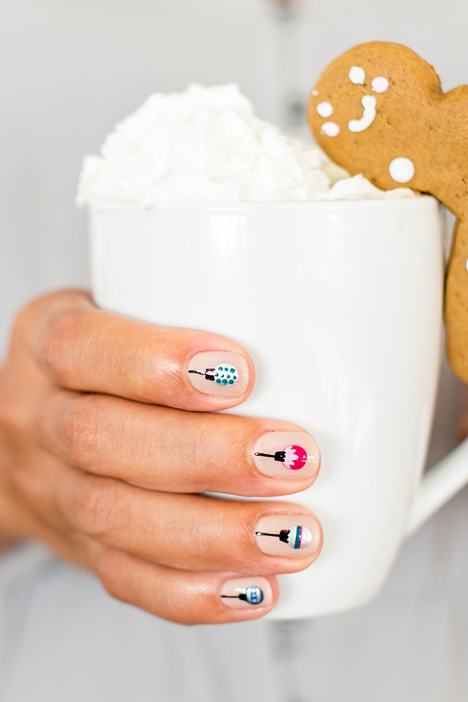 the cutest mani for the holidays by our friends at Olive & June
