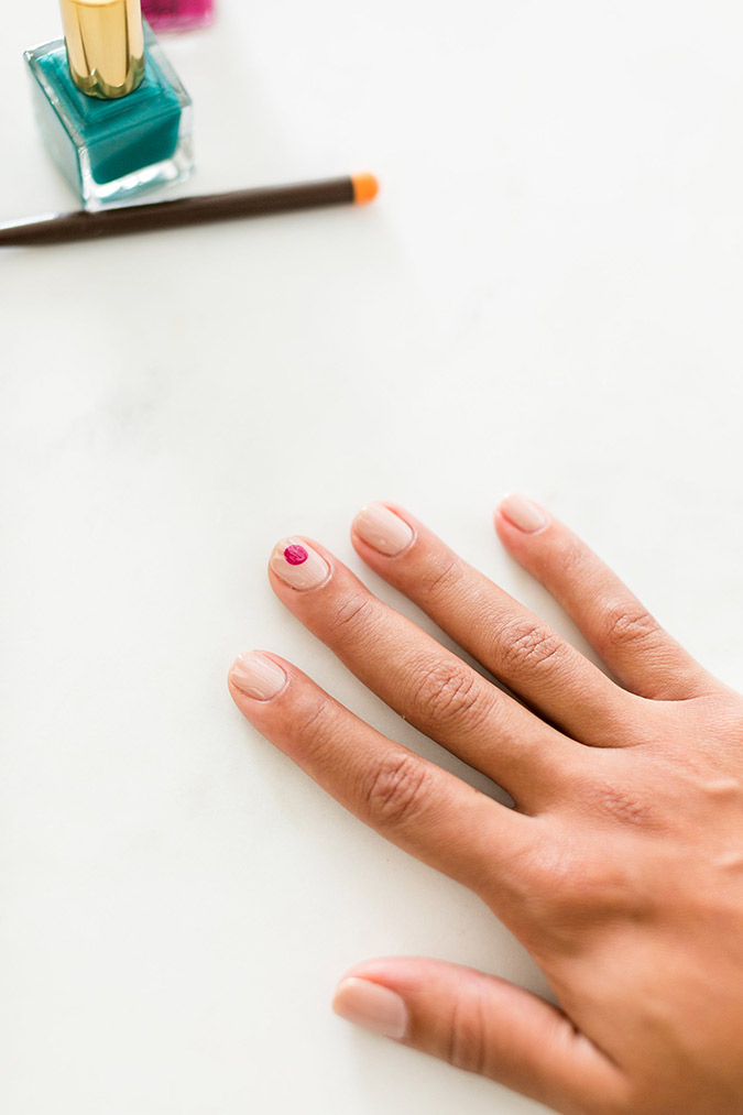 how to recreate our holiday ornament manicure, step-by-step