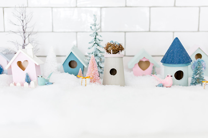 a little pastel village for Christmas