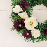 Inspired Idea: DIY Crepe Paper Flower Wreath