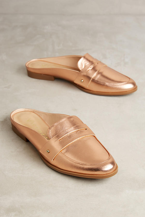 I've got my eye on these rose gold loafer slides…