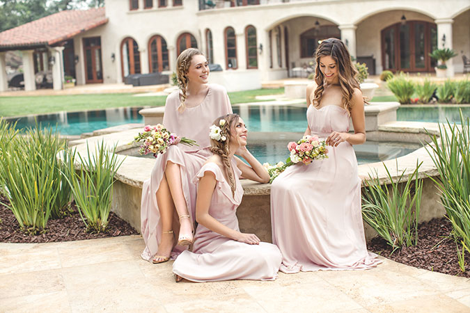 Consider using a bridesmaid dress rental service | Paper Crown bridesmaids