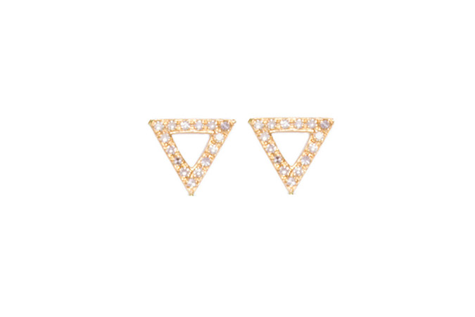 EF Collection Triangle Studs