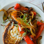 Recipe Box: Fried Egg Breakfast Toast with Roasted Red Peppers