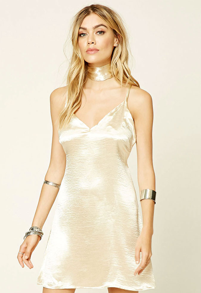 Forever21 Choker Slip Dress