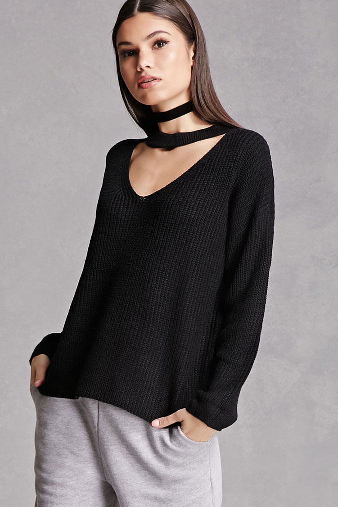 Forever21 Choker Sweater