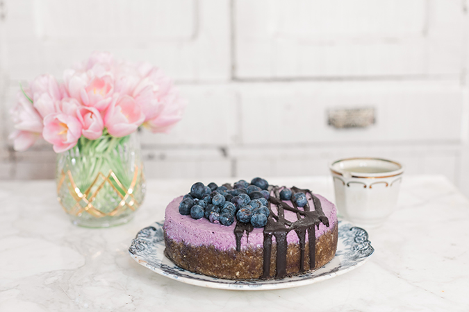 Vegan blueberry cheesecake recipe on LaurenConrad.com
