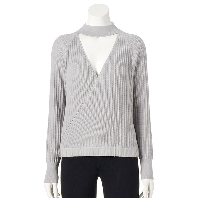 LC Lauren Conrad Surplice Sweater