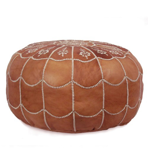 Lulu and Georgia Moroccan Leather Pouf