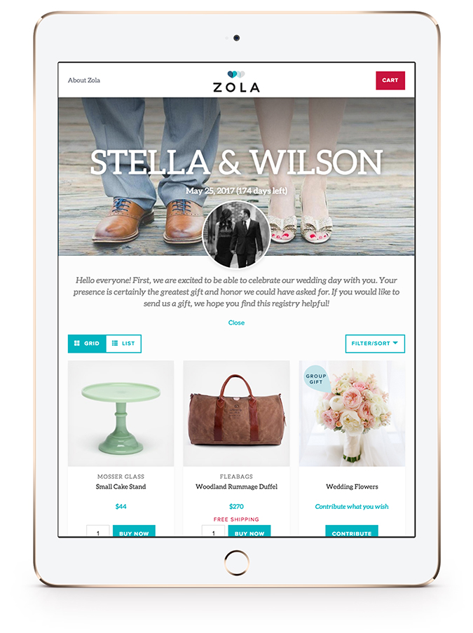 How to use the Zola Wedding Registry