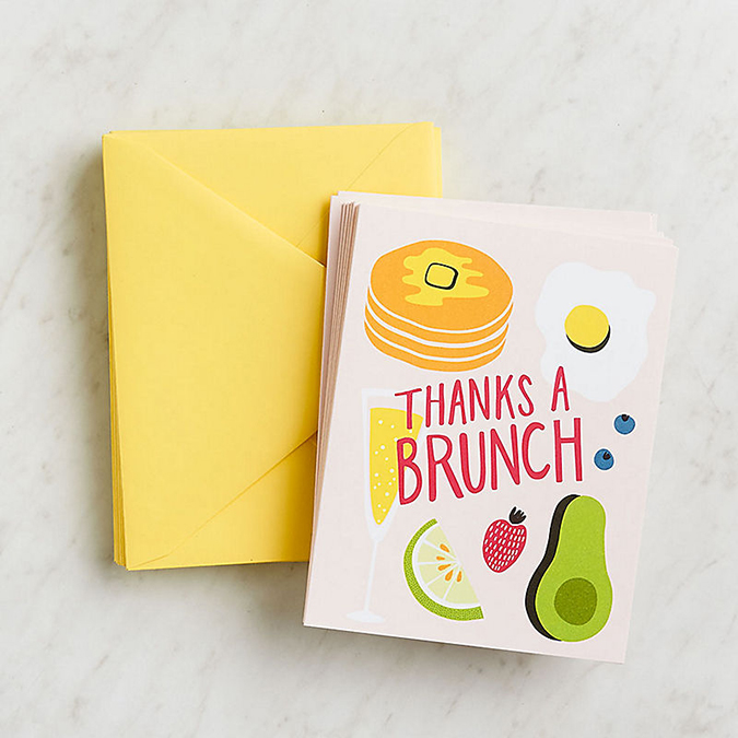 """Thanks a Brunch"" stationery"