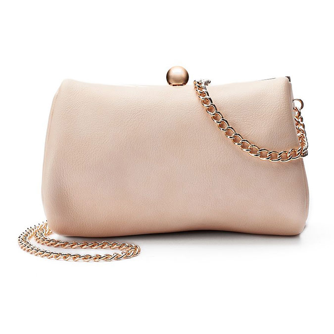 LC Lauren Conrad Lili Frame Clutch in Blush