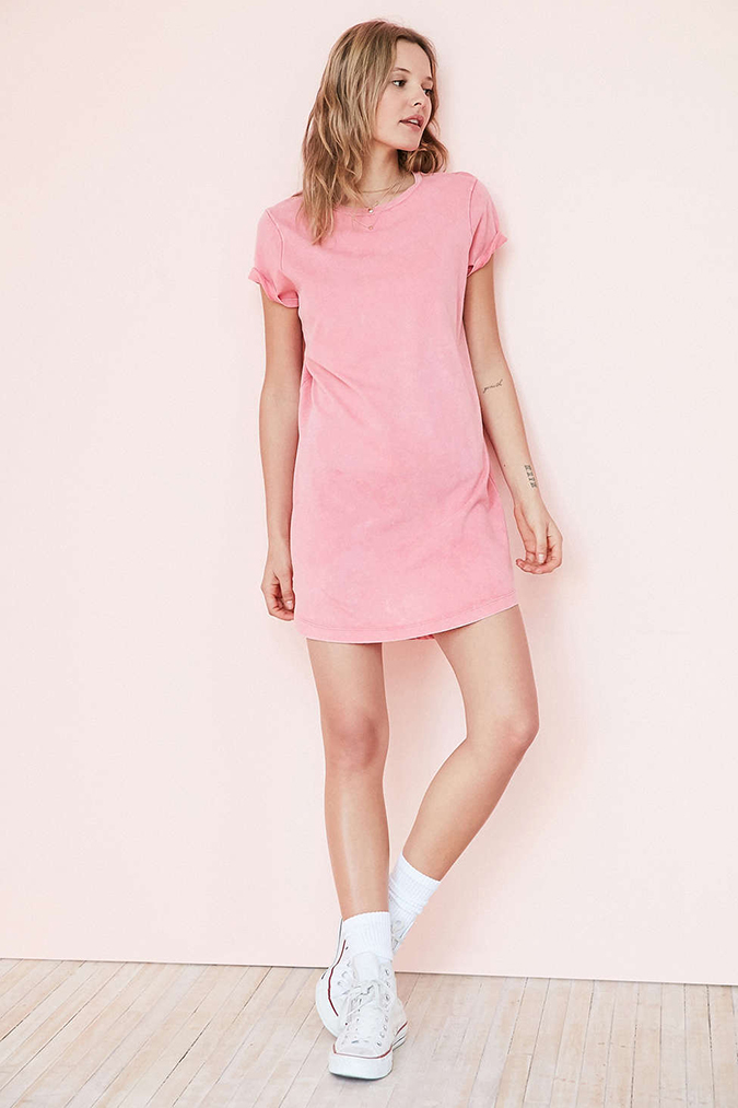 BDG pink t-shirt dress