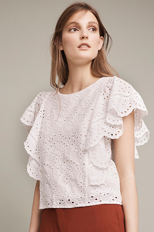 Anthropologie Harlyn Cluny Blouse