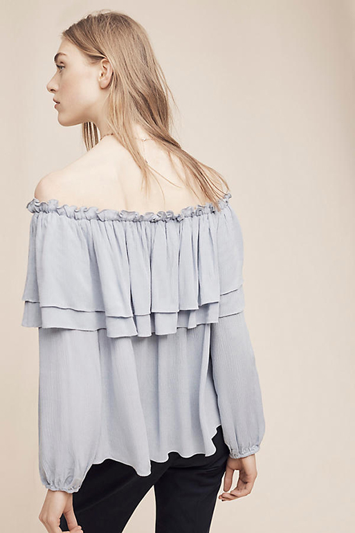 English Factory Bambarra Off-the-Shoulder Top