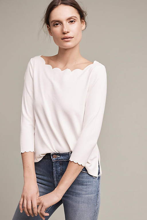 Paulina Scalloped Top