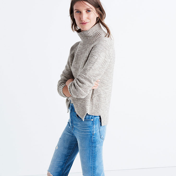 Madewell Raglan Turtleneck Sweater
