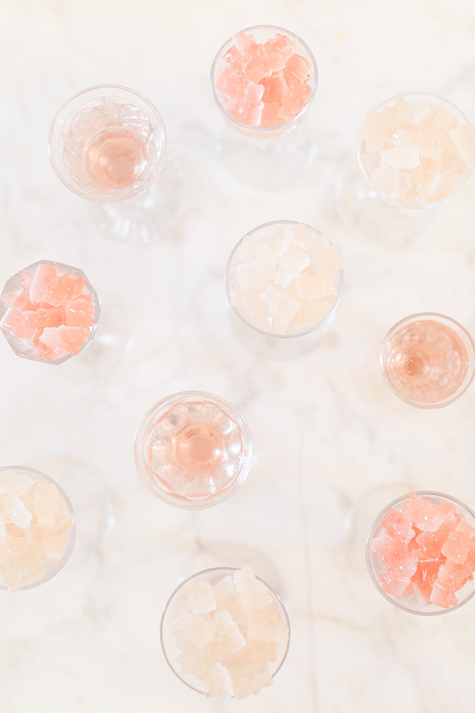 Homemade boozy gummy bears