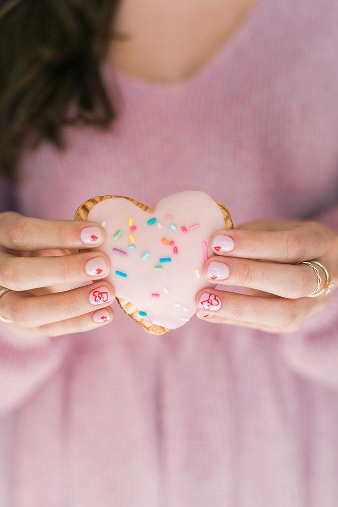 Homemade sweetheart pop tarts