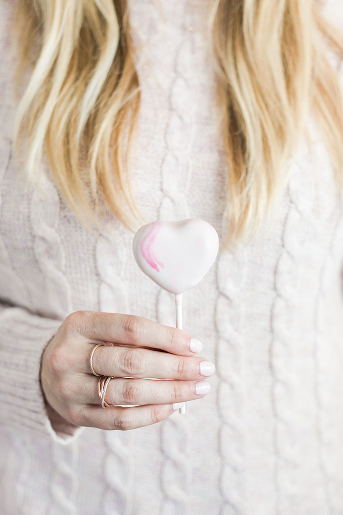 Marbled heart cake pops by LaurenConrad.com