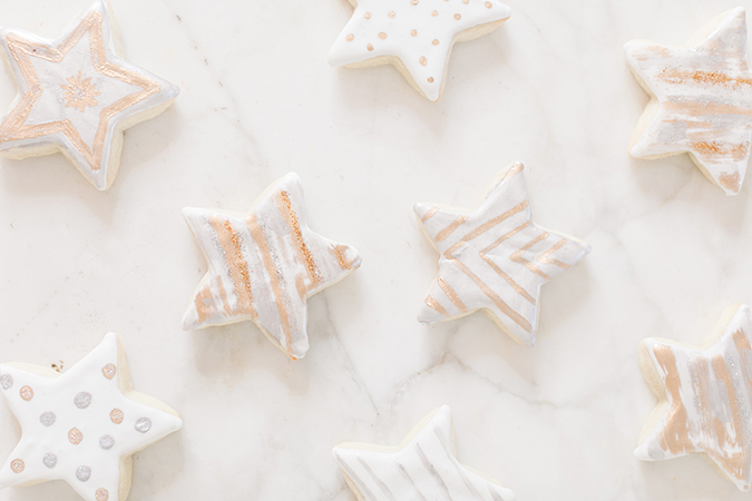 Metallic cookies for Awards Season