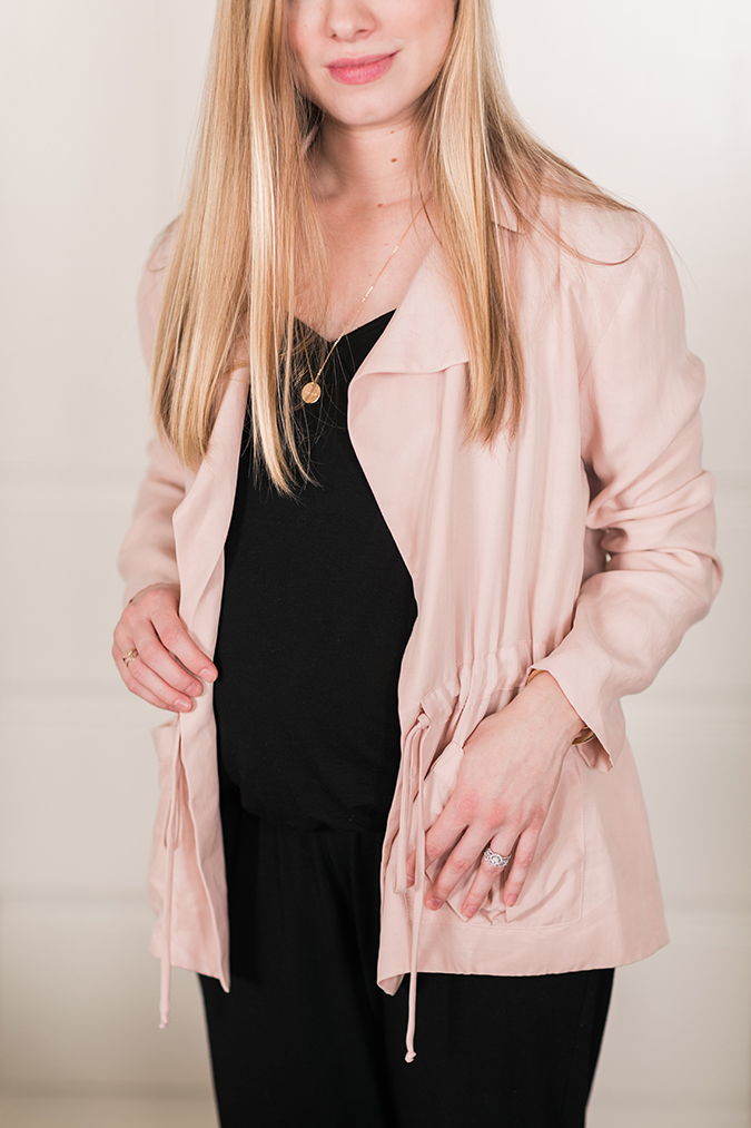 Paper Crown Cottonwood Jacket in Blush Cupro