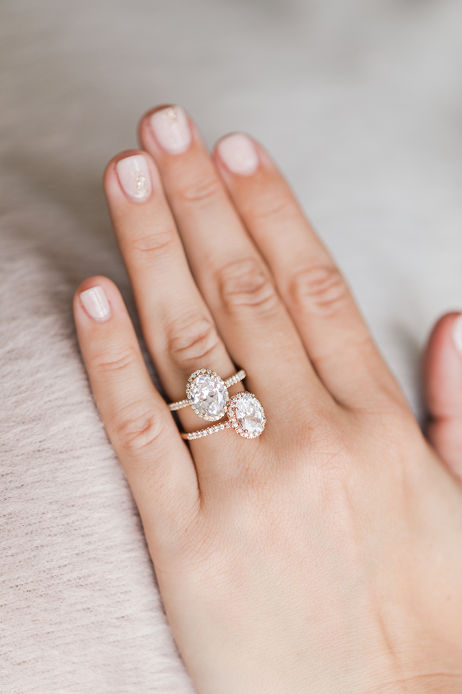 Choosing your metal | Yellow gold and rose gold James Allen engagement rings