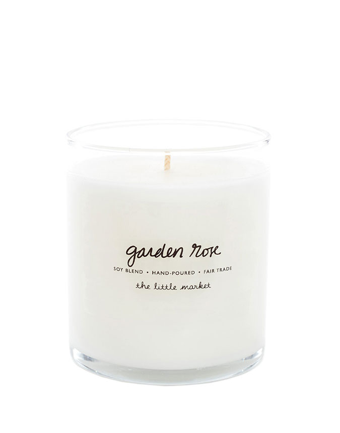The Little Market Soy Blend Candle in Garden Rose,