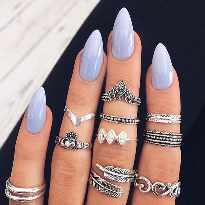 Stiletto nail shape