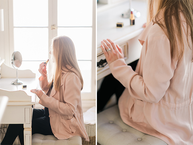 The blush Cottonwood Jacket by Paper Crown