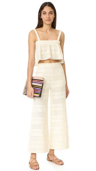 Mara Hoffman spring top and wide-leg pants