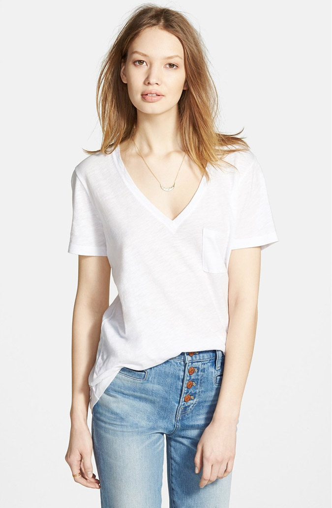 Madewell Whisper Cotton V-Neck Tee