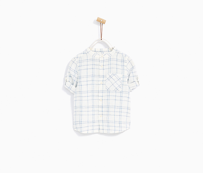 Zara Kids Checked Linen Shirt