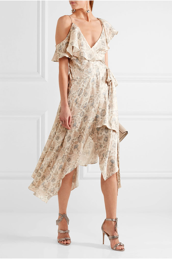 Zimmerman Ruffle Floral Print Dress