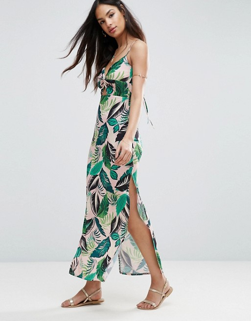 ASOS Maxi Dress in Palm Print