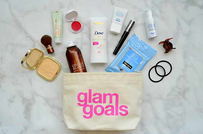 Freshen-up bag for after the gym
