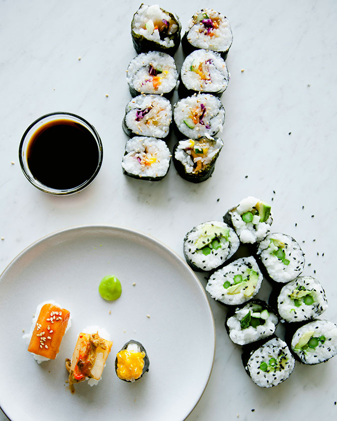 Vegan Sushi via Claire Thomas of The Kitchy Kitchen