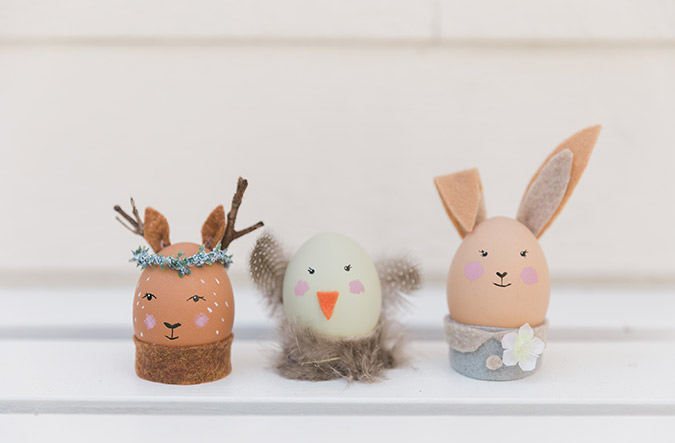 The cutest animal Easter egg friends