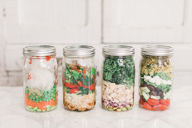 4 healthy jar lunches to take to work