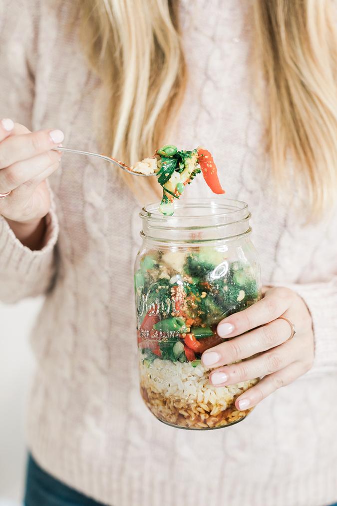 Stirfry veggies and brown rice bowl