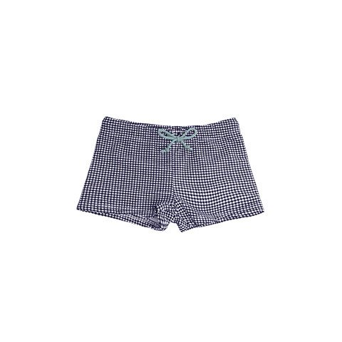 Minnow Swim Boy's Mini Check Briefs